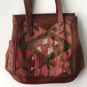 Handbags - vintage southwestern shoulder bag genuine leather